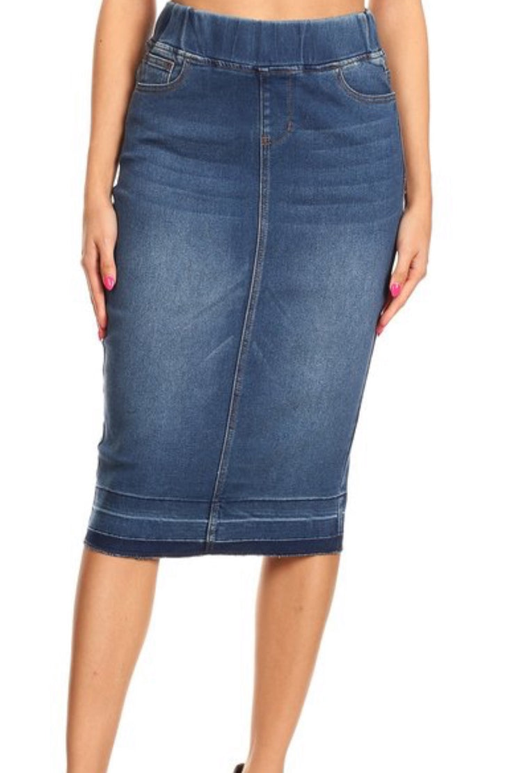 Justine Denim Skirt