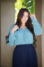 Samantha Teal Top