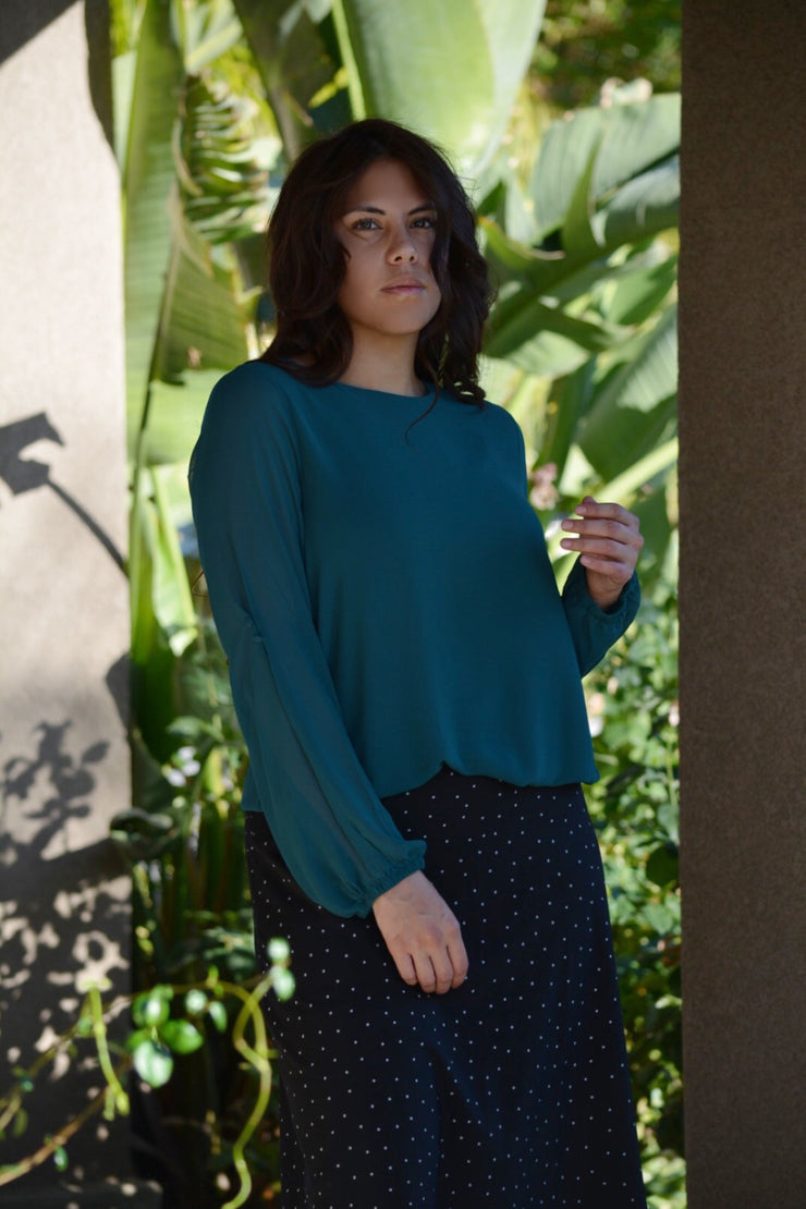 Kelsey Top (2 Options Navy or Forest Green)