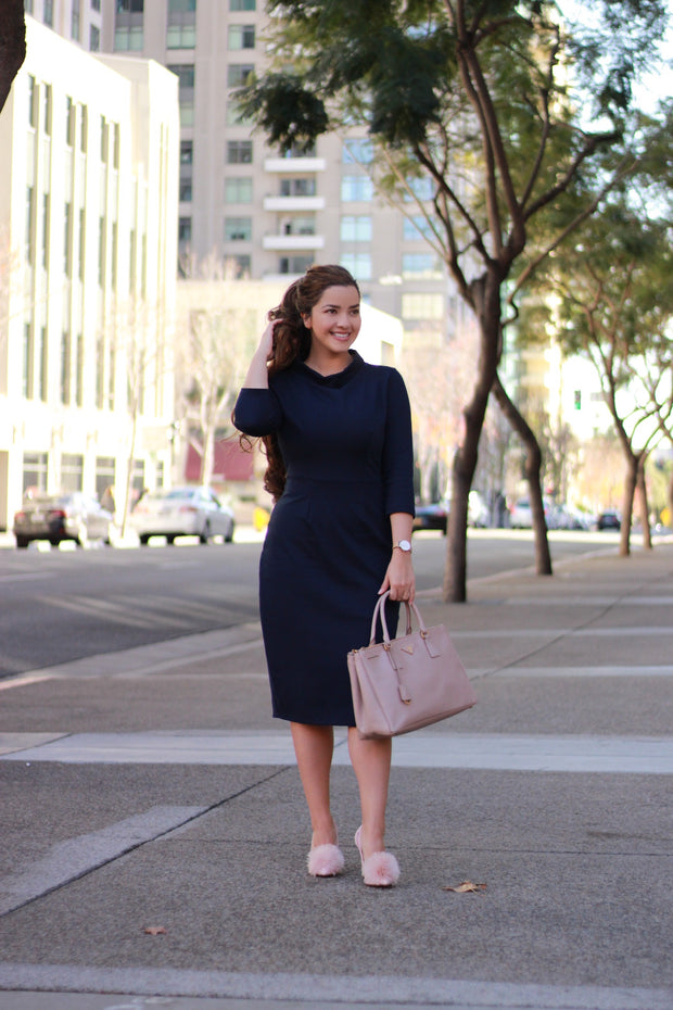 Milan Navy Dress