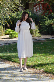 Rachel Cream Swissdot Dress