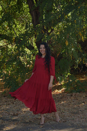 Marbella Red Maxi Dress