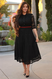 Clementine Black Lace Dress