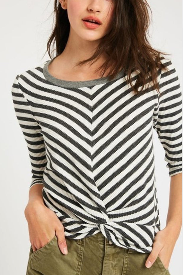 Taylor Striped Tie Top