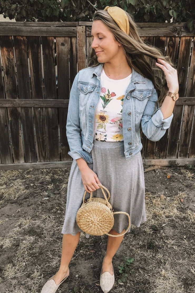 Viola Heather Gray Skirt