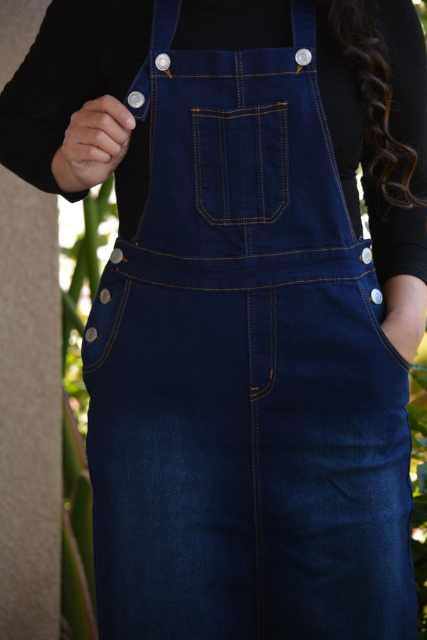 Lacey Dark Denim Overall