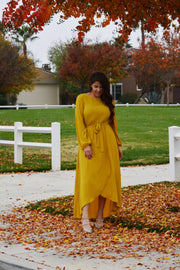 Paris Mustard Yellow Maxi Dress