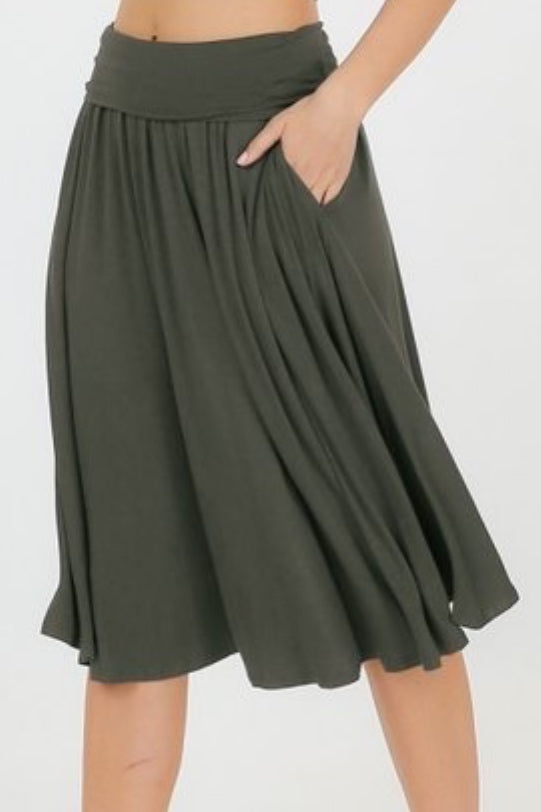 Shelly Olive Green Skirt