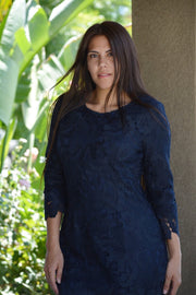 Seville Navy Lace Dress