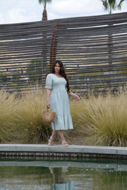 Delphine Mint Eyelet Dress