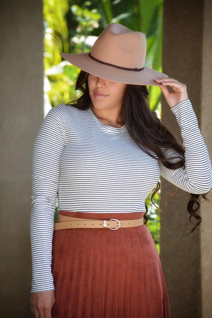 Miranda Striped Ribbed Top