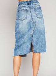 Chantal Denim Asymmetrical Skirt