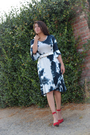 Kelsey Navy Tie Dye Dress
