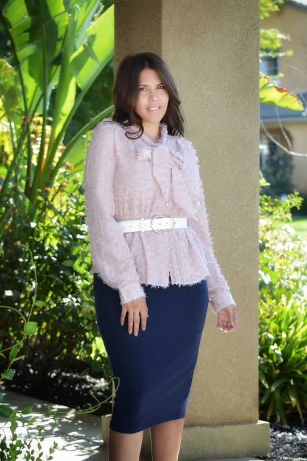 Cecelia Textured Pink Top