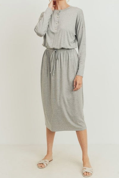 Cheryl Heather Gray Jogger Dress