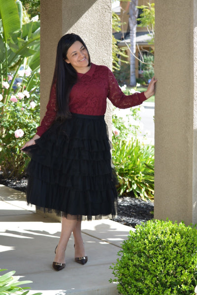 Danielle Black Tulle Skirt