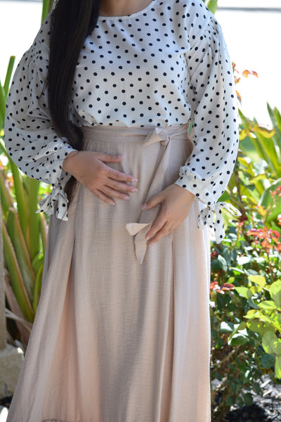 Tessie Off White Polkadot Top