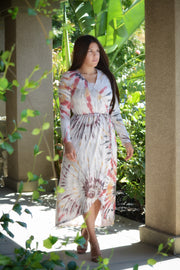 Hattie Tie Dye Faux Wrap Dress