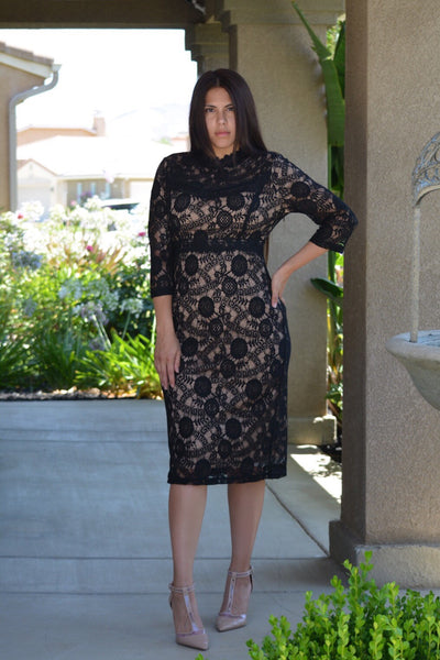 Hazel Black Lace Dress