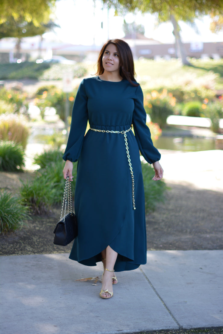 New Paris Green Maxi Dress (perfect bridal party dress)