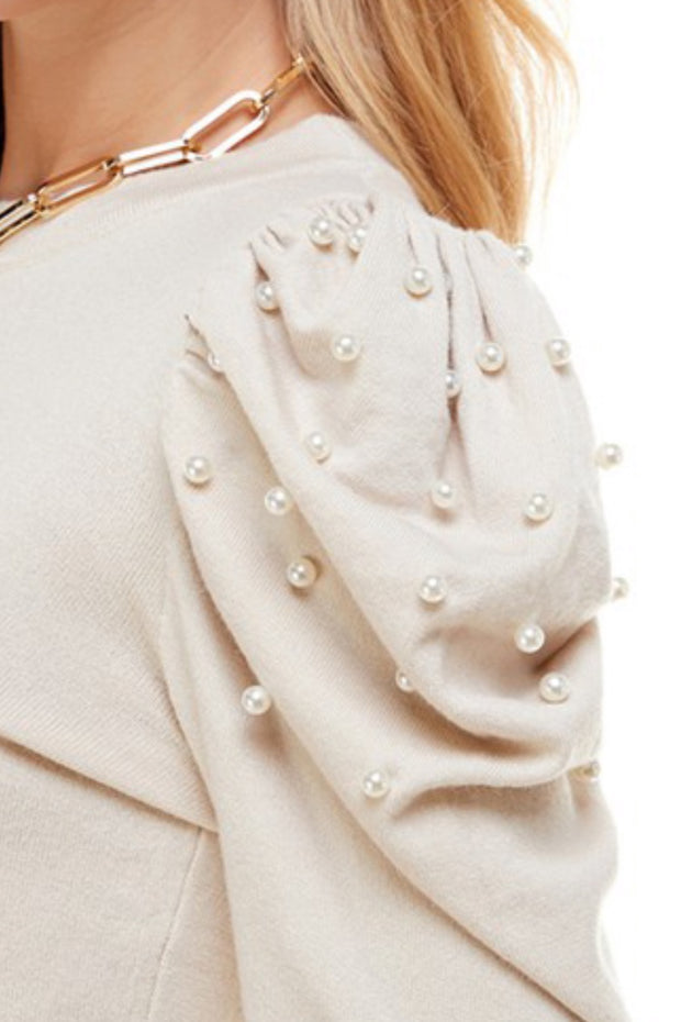 Prim and Pearls Knit Top