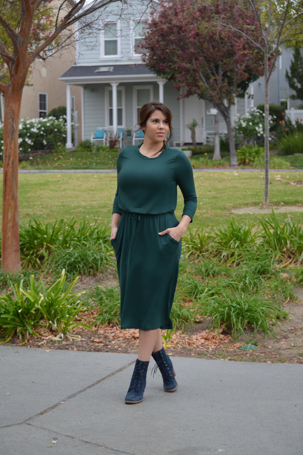 Aria Emerald Green Jogger Dress