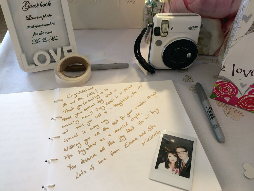 The wedding guestbook