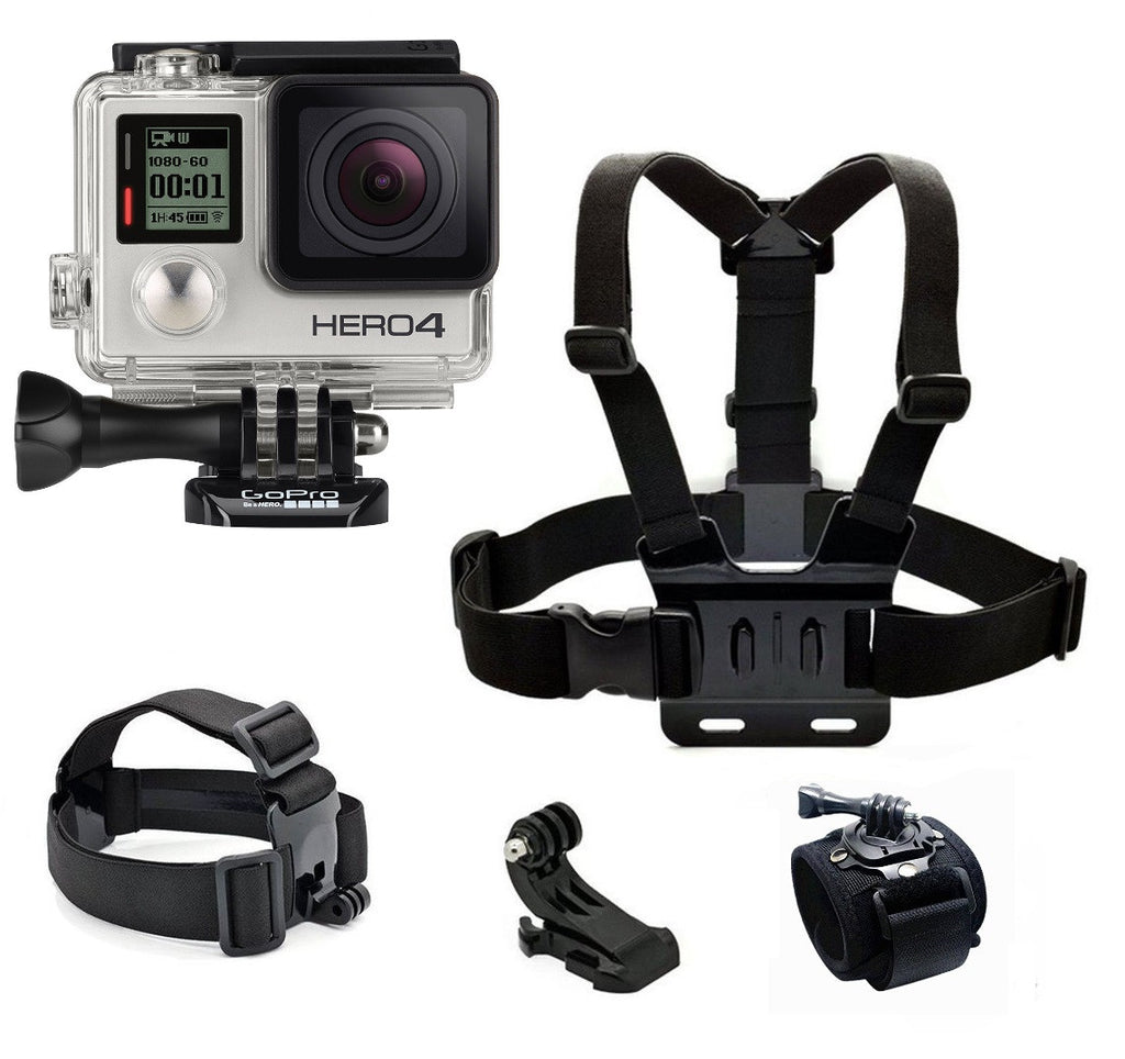 GoPro Hero 4 Silver - Straps Bundle