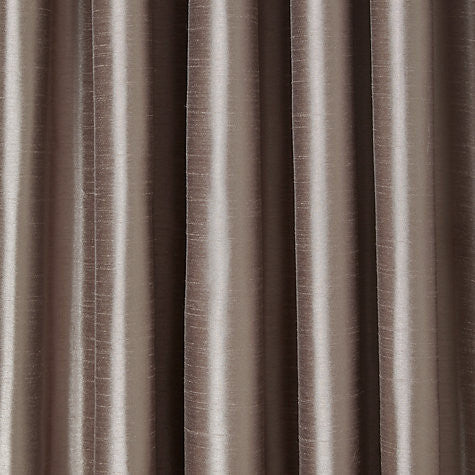 "Faux Silk Curtains for Rod Pocket and Ring Clips, Panel 50"" wide"