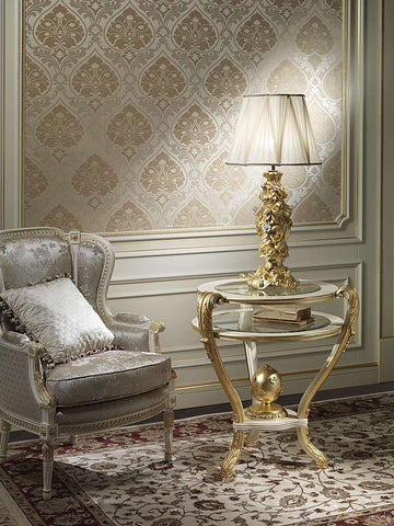 Baroque Lamp.....Gold Leaf with Silver leaf, High End