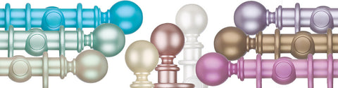 Curtain Poles & Drapery Rods, Pearlescent