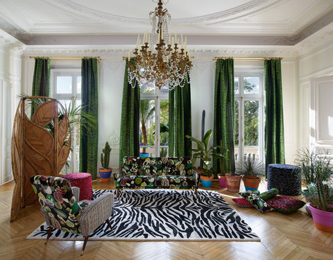 Pantigre Curtains lined and interlined Fabric by Christian Lacroix