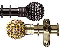 Jewelled Poles, Bling Metal Poles & Finials