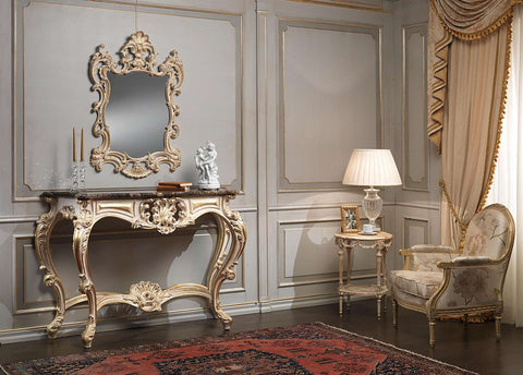 French Luxury Console Table & Mirror