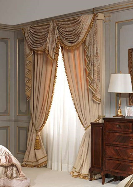 Window Treatment Swags And Tails Valance Curtain Luxury