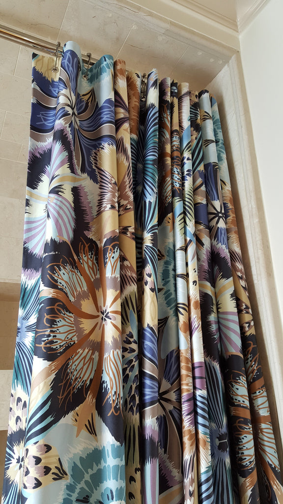 Designer Shower Curtain with Missoni Fabric – Luxury Window Treatments