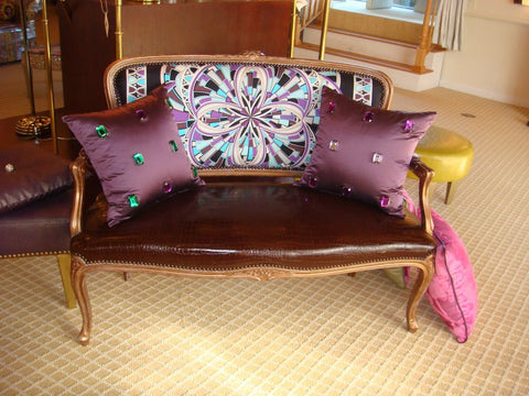 The Mayfair Loveseat with Emilio Pucci Silk