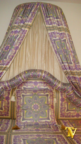 Bed Canopy, Versace Fabric