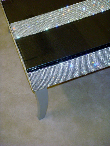 Belgravia Coffee Table, With top border diamante'