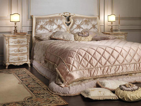 Classic Louis XVI Bed, white and Gold