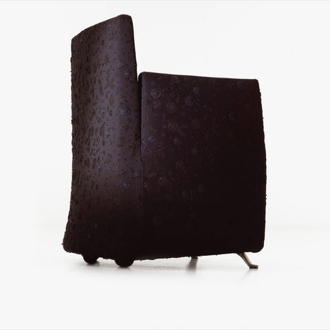 Aura Armchair, Black flowers