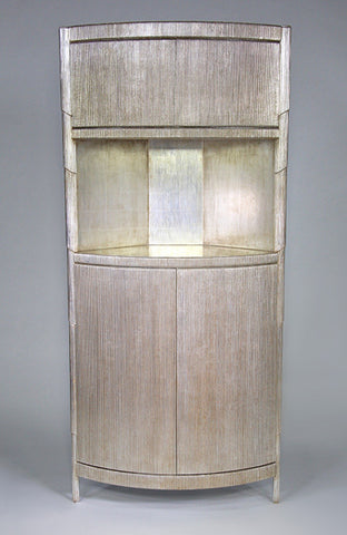 Curtain Cabinet, Silver Leaf, Modern style