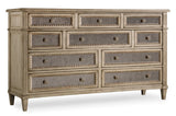 Antique Mirrored Dresser / 4 Drawer