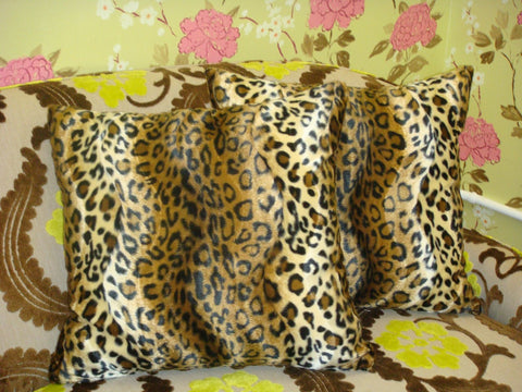 Animal Print Throw Pillow Cover, Cheetah Print, Brown & Gold