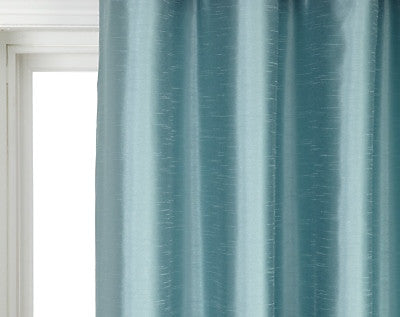 "Faux Silk Curtains for Rod Pocket and Ring Clips, Panel 77"" wide"
