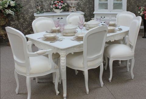 French Dining Table Set French Provencial Dining Set White Luxury