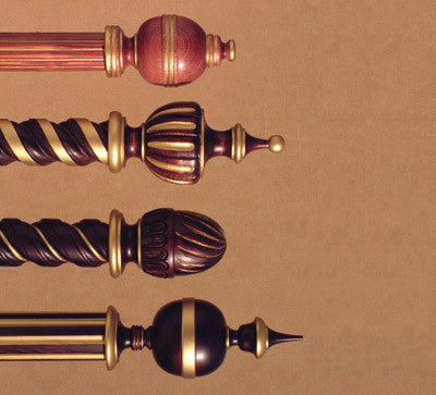 Wood Poles & Finials....Traditional Collection by H & H