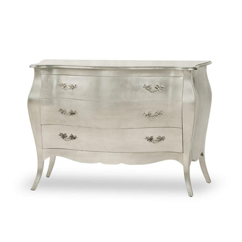 Baroque Glamour Chest.....Silver / 3 Drawer