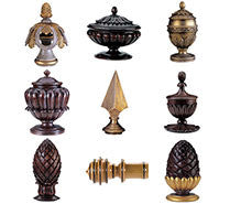 Wood Poles & Finials....Traditional Collection