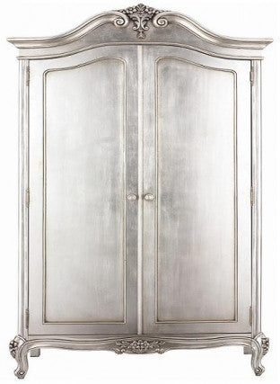 Boutique Alexandria Armoire,  Silver Leaf